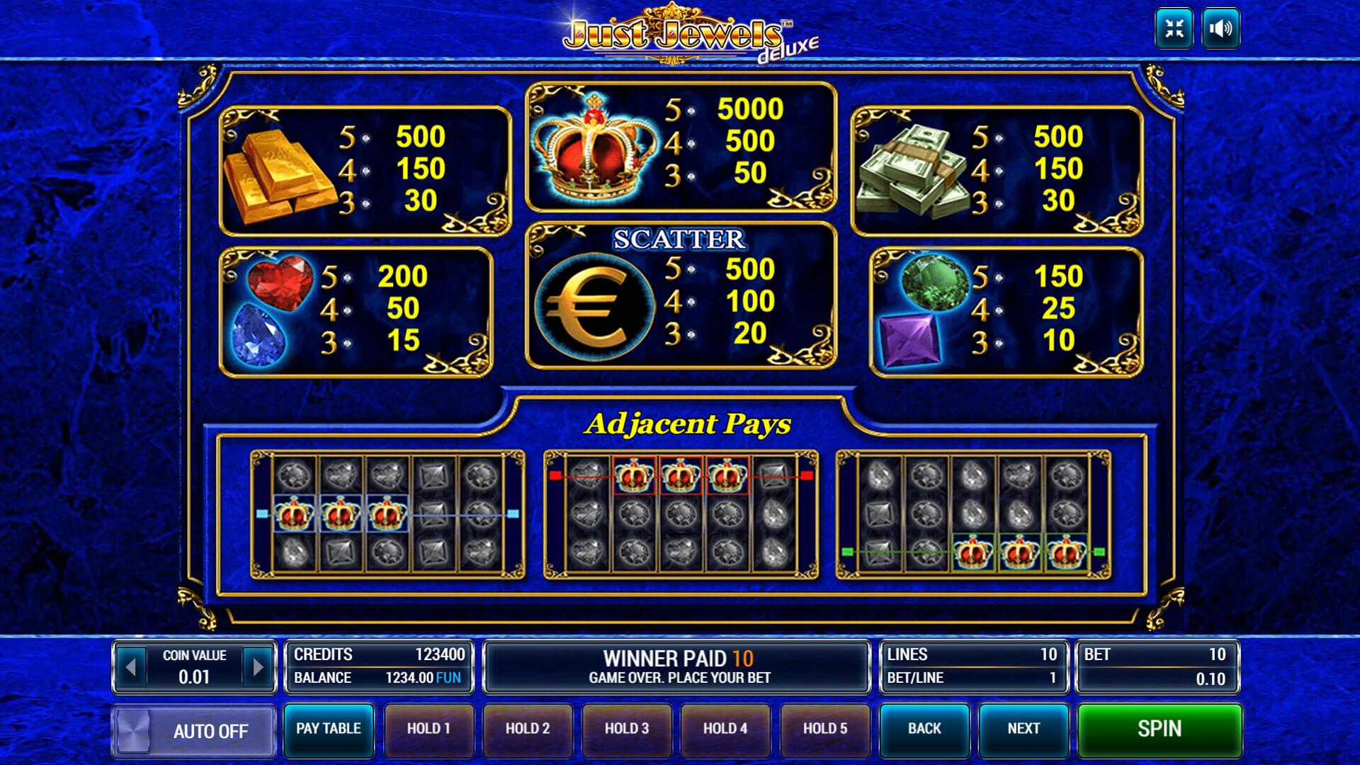 Изображение игрового автомата Just Jewels Deluxe 3