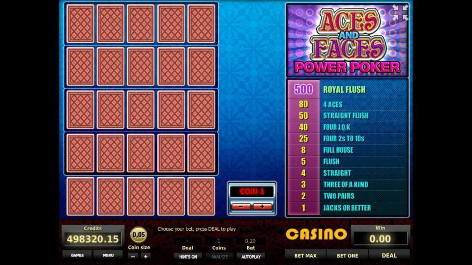 Изображение игрового автомата Aces and Faces 4-Hand Poker 1