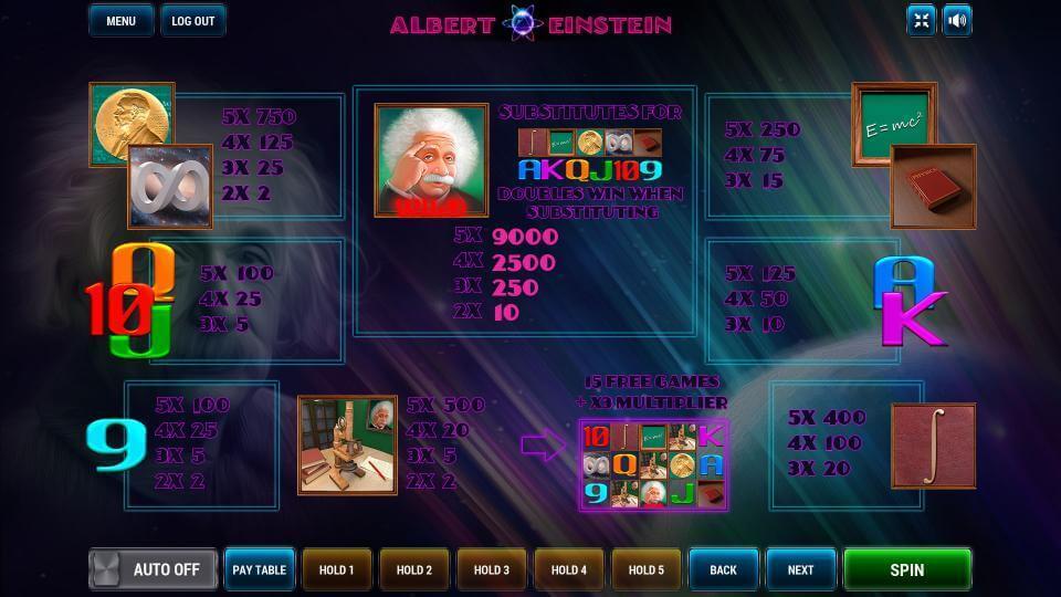 Изображение игрового автомата Albert Einstein 3