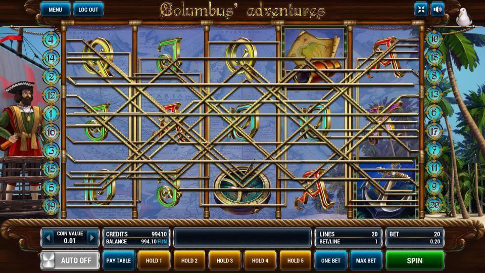 Изображение игрового автомата Columbus Adventures 1