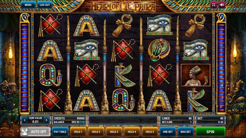 Изображение игрового автомата Heart of Cleopatra 2