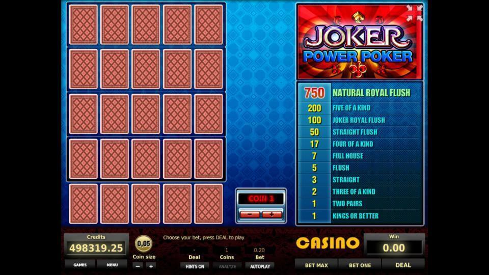 Изображение игрового автомата Joker 4-Hand Poker 1