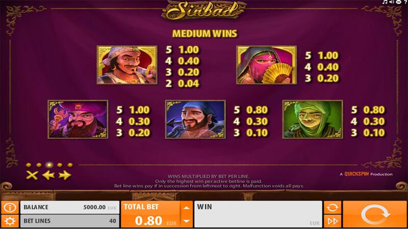 Изображение игрового автомата Sinbad 3